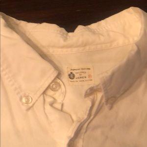 J Crew white oxford shirt